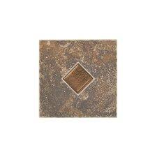 Castle De Verre Ceramic Mosaic Field Tile in Regal Rouge