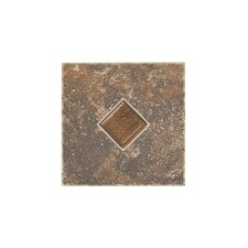 Castle De Verre Mosaic Field Tile in Regal Rouge