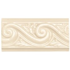 "<strong>Daltile</strong> Rittenhouse Square 6"" x 3"" Wave Decorative Accent in Translucent Almond"