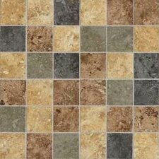 "Heathland 2"" x 2"" Unpolished Ceramic Mosaic in Sunset Blend"