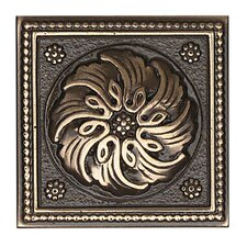 "<strong>Daltile</strong> Metal Ages 2"" x 2"" Celtic Glazed Decorative Tile Insert in Polished Bronze"