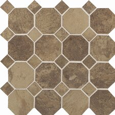 "<strong>Daltile</strong> Aspen Lodge 12"" x 12"" Mosaic Field Tile in Cotto Mist"
