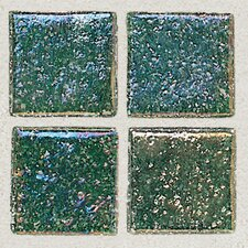 "<strong>Daltile</strong> Sonterra Collection 12"" x 12"" Iridescent Mosaic Tile in Emerald"