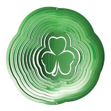 Green Shamrock Wind Spinner