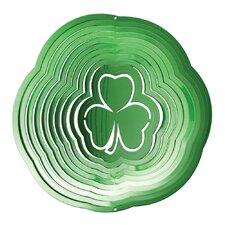 Green Shamrock Wind Spinner