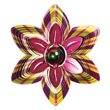 <strong>Iron Stop</strong> Designer Gazing Flower Wind Spinner