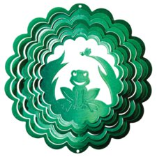 Green Frog Wind Spinner