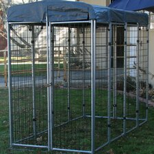 """No Tools"" Wire Folding Yard Kennel"