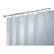<strong>InterDesign</strong> EVA Vinyl Frost Stones Shower Curtain
