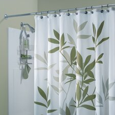 Leaf Print Polyester Shower Curtain