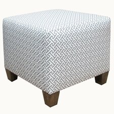 <strong>Skyline Furniture</strong> Cross Section Fabric Cube Ottoman