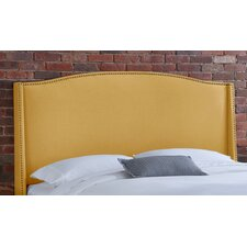 <strong>Skyline Furniture</strong> Nail Button Linen Wingback Headboard