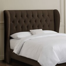 <strong>Skyline Furniture</strong> Tufted Wingback Velvet Headboard