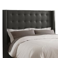 <strong>Skyline Furniture</strong> Button Tufted Linen Wingback Headboard