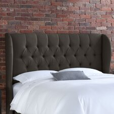 <strong>Skyline Furniture</strong> Tufted Wingback Linen Headboard