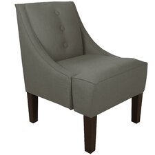 Twill Cotton 3 Button Swoop Arm Chair
