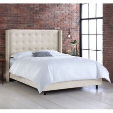 Linen Upholstered Wingback Bed