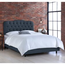 Linen Upholstered Panel Bed