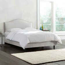 Mystere Velvet Upholstered Panel Bed