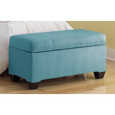 <strong>Skyline Furniture</strong> Micro-Suede Bedroom Storage Ottoman