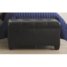 <strong>Skyline Furniture</strong> Leather Bedroom Storage Ottoman