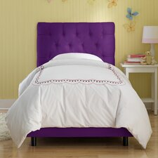 <strong>Skyline Furniture</strong> Tufted Micro-Suede Youth Bed in Purple
