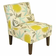 <strong>Skyline Furniture</strong> Floral Slipper Chair