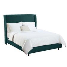 Velvet Wingback Bed