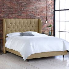 Diamond Upholstered Wingback Bed