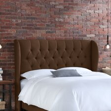 Tufted Linen Wingback Headboard