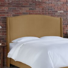<strong>Skyline Furniture</strong> Nail Button Velvet Wingback Headboard