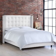 Nail Button Tufted Wingback Bed