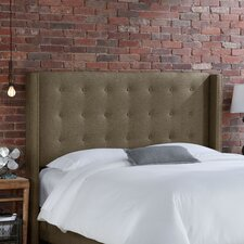 Nail Button Tufted Wingback Headboard