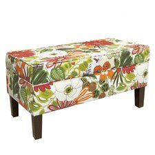 Upholstered Flower Storage Bench
