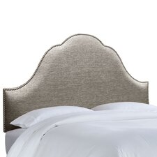<strong>Skyline Furniture</strong> Nail Button Groupie Upholstered Arch Headboard