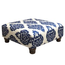 Diamonds Fabric Cocktail Ottoman