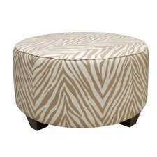 Sudan Fabric Cocktail Ottoman