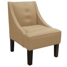 Linen Swoop Slipper Chair