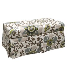 <strong>Skyline Furniture</strong> Silsila Skirted Fabric Storage Bench
