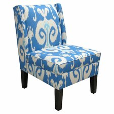 Wingback Fabric Slipper Chair