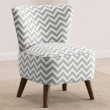 Zig Zag Mid Century Slipper Chair