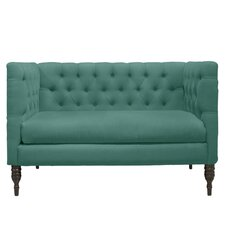 Tufted Settee Loveseat