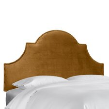 High Arch Velvet Upholstered Headboard