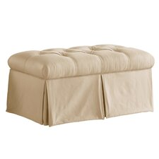 <strong>Skyline Furniture</strong> Tufted Skirted Bedroom Storage Ottoman