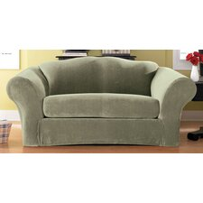 <strong>Sure-Fit</strong> Stretch Pique Separate Seat Sofa Slipcover