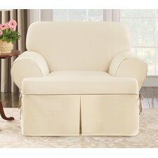 <strong>Sure-Fit</strong> Cotton Duck Club Chair T-Cushion Slipcover
