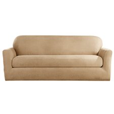Stretch Leather Sofa Slipcover