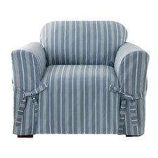 Grain Sack Stripe Chair Slipcover