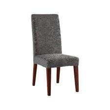 Stretch Jacquard Damask Short Chair Slipcover