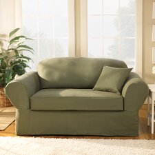<strong>Sure-Fit</strong> Twill Supreme Loveseat Slipcover